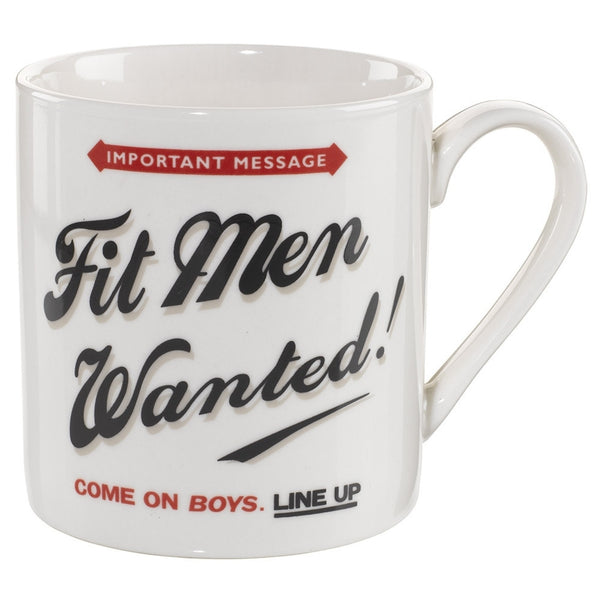 Home Front Fit Men Wanted Mug | Wild and Wolf -  Bloomsbury Store