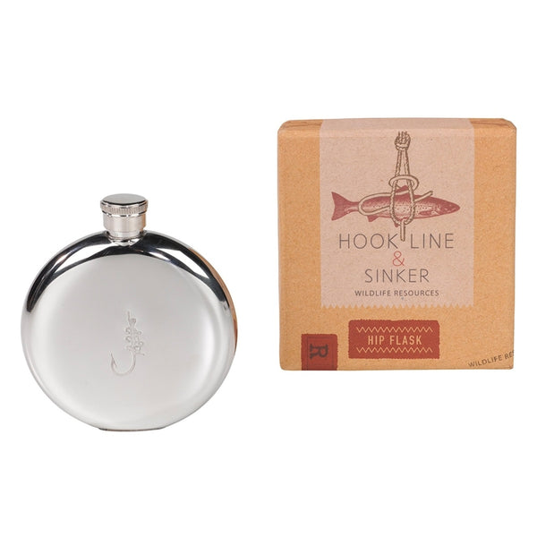 Hook Line and Sinker Hip Flask | Wild & Wolf -  Bloomsbury Store - 1