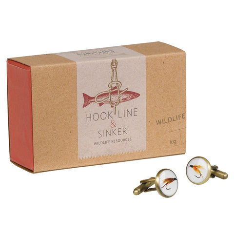 Hook Line and Sinker Cufflinks | Wild & Wolf -  Bloomsbury Store - 1