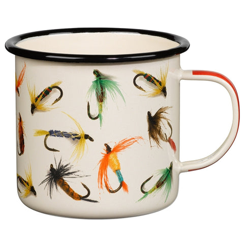 Hook Line and Sinker Flies Enamel Mug | Wild & Wolf -  Bloomsbury Store - 1
