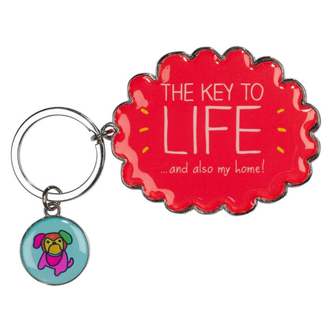 Happy Jackson Key To Life Keyring | Wild & Wolf -  Bloomsbury Store
