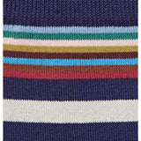 Paul Smith Accessories | Navy Multi Top Stripe Socks -  Bloomsbury Store - 3