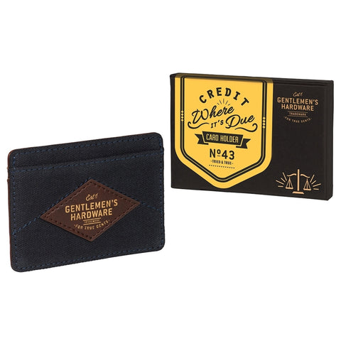 Gentlemen's Hardware Navy Card Holder | Wild & Wolf -  Bloomsbury Store - 1