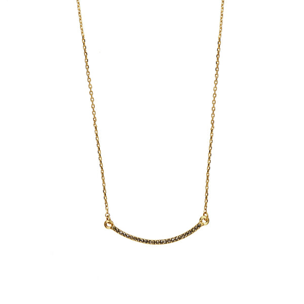 Orelia | Gold Crystal Bar Necklace -  Bloomsbury Store - 1