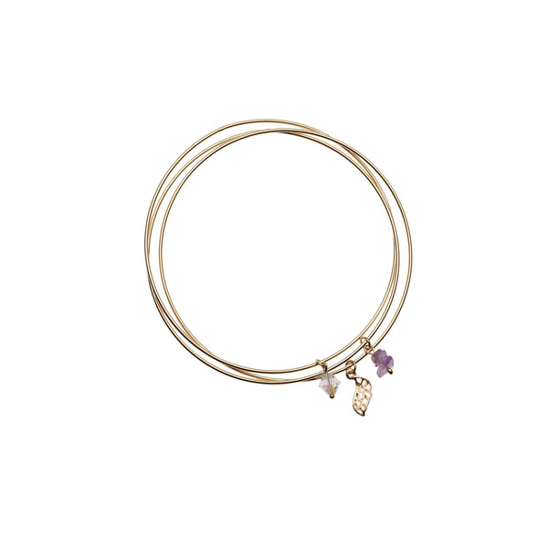 Orelia | Pale Gold Charm Drop Bangle -  Bloomsbury Store