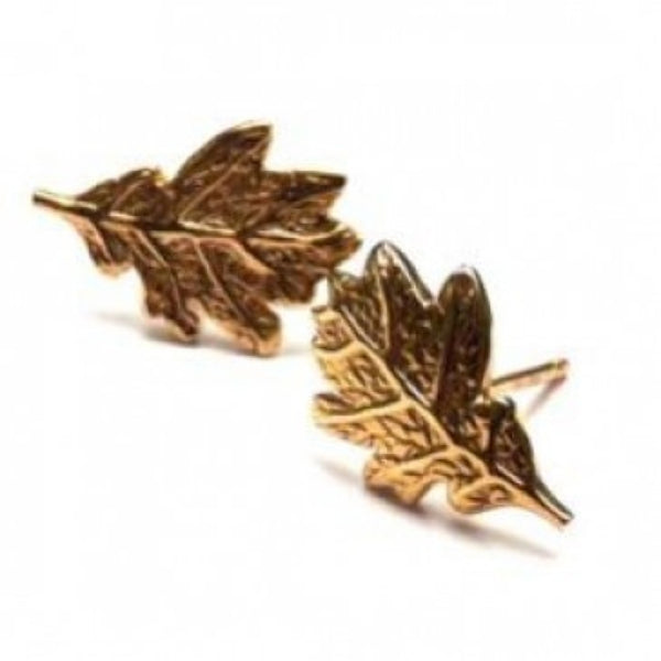 Joy Everley Oak Leaf Earrings | Gold -  Bloomsbury Store
