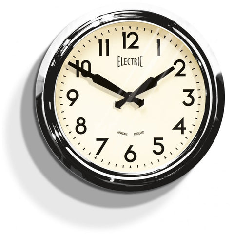 Newgate 50's Electric Clock | Chrome -  Bloomsbury Store