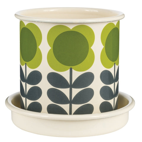 Orla Kiely Big Spot Flower Stem Small Olive Plant Pot | Wild & Wolf -  Bloomsbury Store