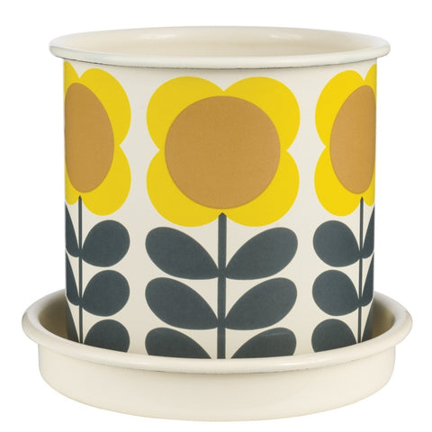 Orla Kiely Big Spot Flower Stem Medium Yellow Plant Pot | Wild & Wolf -  Bloomsbury Store
