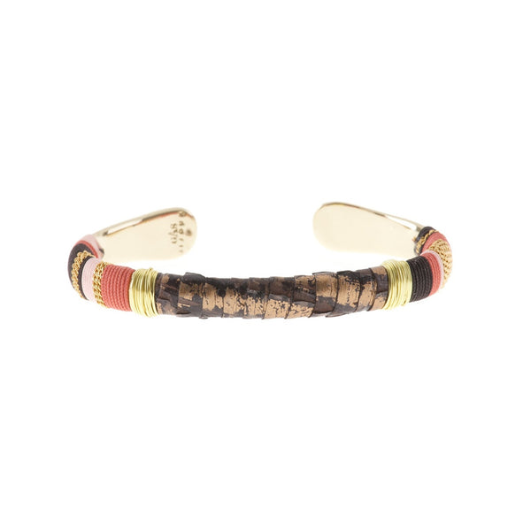 Gas Bijoux Bracelet | Gold / Red Massai Python -  Bloomsbury Store