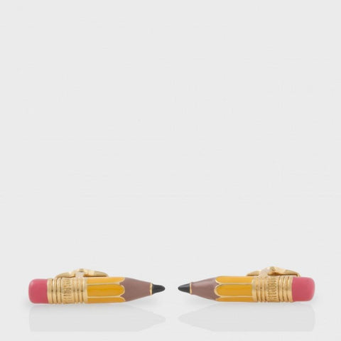 Paul Smith Accessories | Yellow Pencil Cufflinks -  Bloomsbury Store - 1