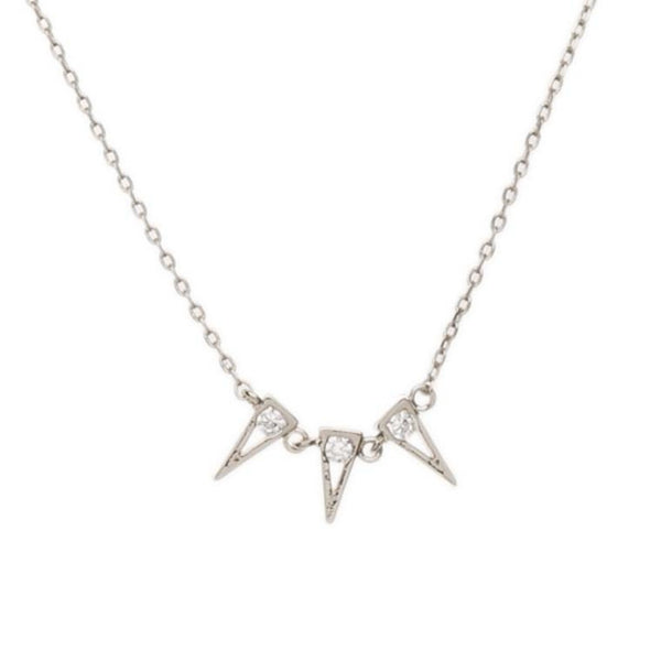 Orelia | Crystal Triple Triangle Necklace -  Bloomsbury Store