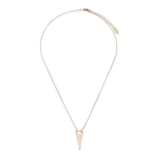 Orelia | Gold Elongated Triangle Necklace -  Bloomsbury Store