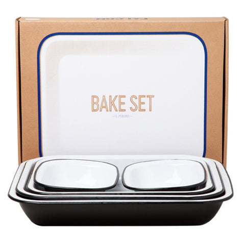 Falcon Enamelware Bake Set | Coal Black  | Bloomsbury Store - 1