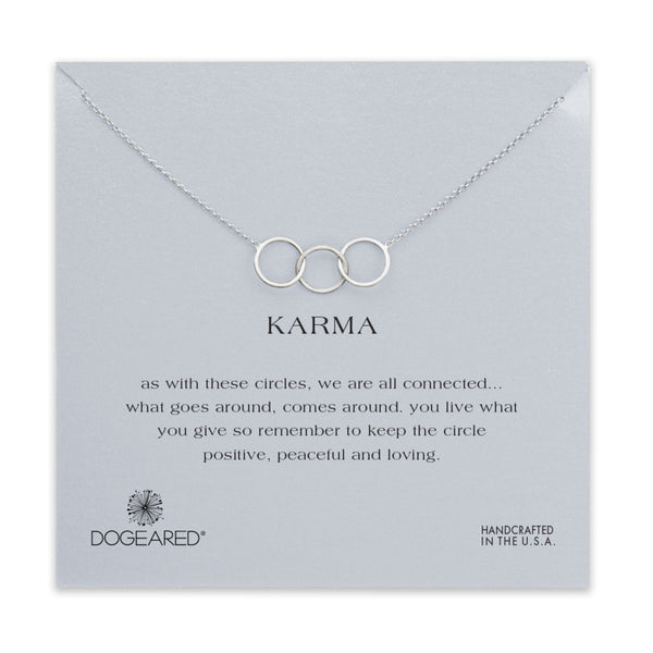 Dogeared Necklace | Silver Large 3 Linked Karma -  Bloomsbury Store - 1