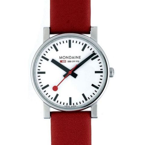Mondaine Evo Watch | 38mm Red -  Bloomsbury Store