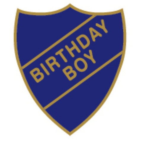 Birthday Boy School Badge | Wild and Wolf -  Bloomsbury Store
