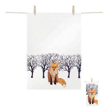 Kitchen Towel Winter Fox -  Bloomsbury Store