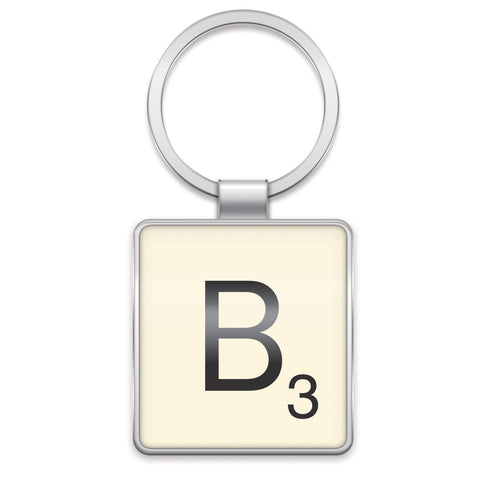 Scrabble Keyring B | Wild and Wolf -  Bloomsbury Store
