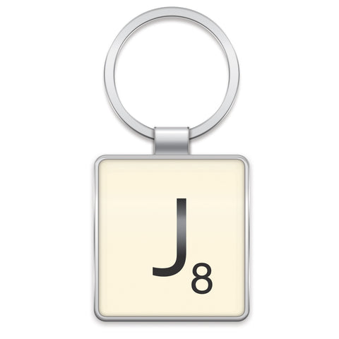 Scrabble Keyring J | Wild and Wolf -  Bloomsbury Store