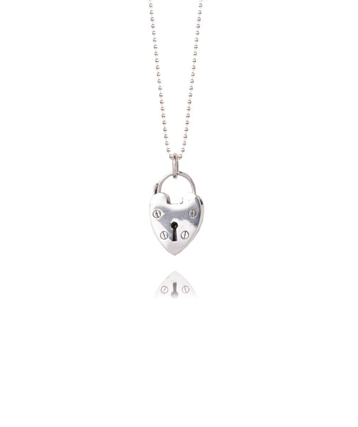 Silver Service Necklace | Large Silver Heart -  Bloomsbury Store