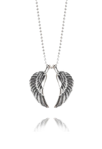 Silver Service Necklace | Small Silver Wings -  Bloomsbury Store