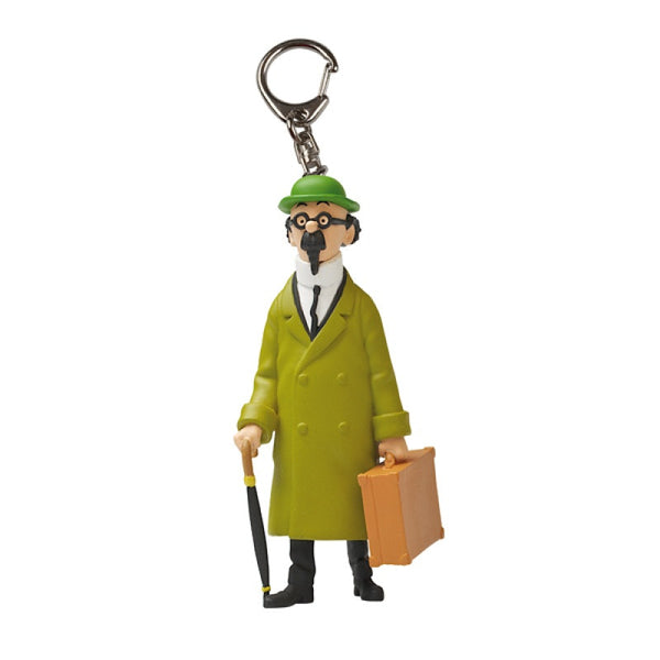 Tintin Keyring | Calculus With Suitcase Small 5cm -  Bloomsbury Store
