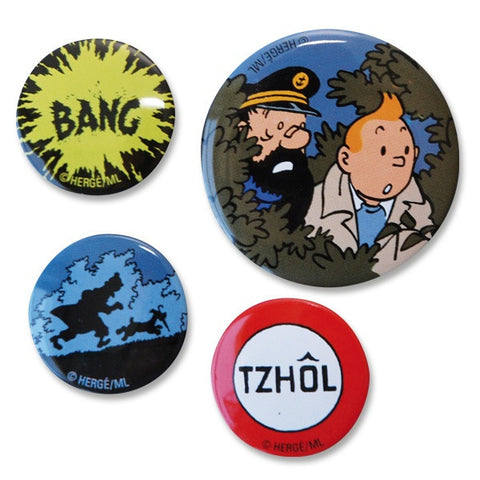 Tintin Badges | Set of 4 -  Bloomsbury Store
