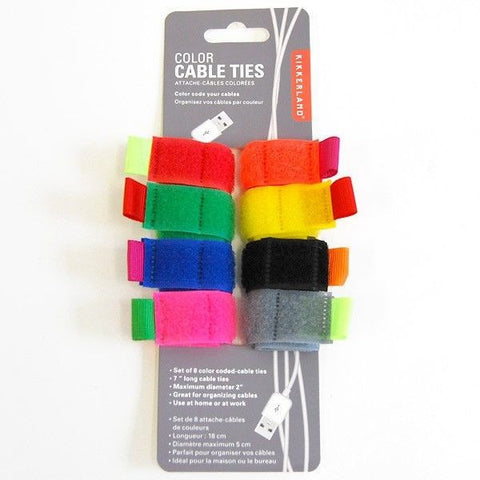 Cable Tie Multi Colour Assorted | Set Of 8 -  Bloomsbury Store - 1
