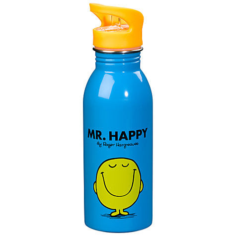 Mr Happy Water Bottle | Mr Men & Little Miss -  Bloomsbury Store