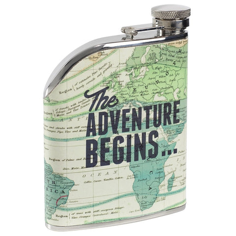 Cartography Hip Flask | Wild and Wolf -  Bloomsbury Store