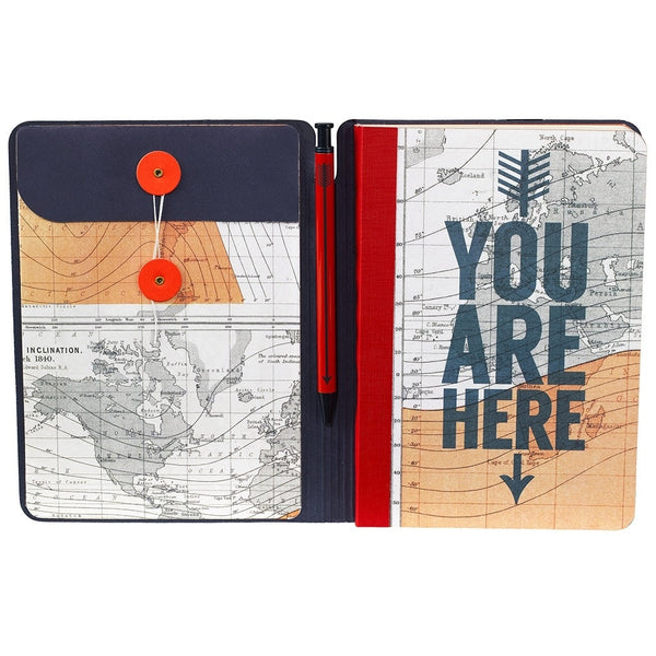Cartography Travel Journal & Pen | Wild and Wolf -  Bloomsbury Store