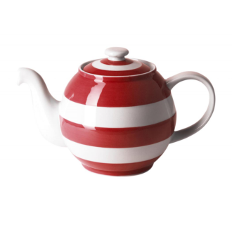 Cornishware Large Betty Teapot | Red -  Bloomsbury Store