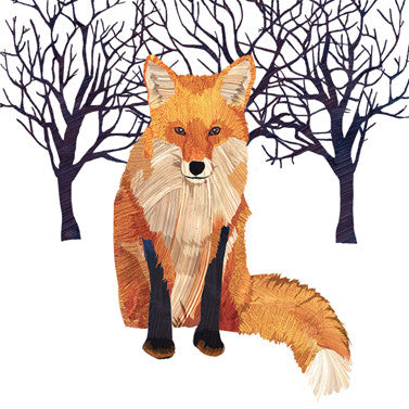 Napkin Winter Fox | 33x33cm  | Bloomsbury Store