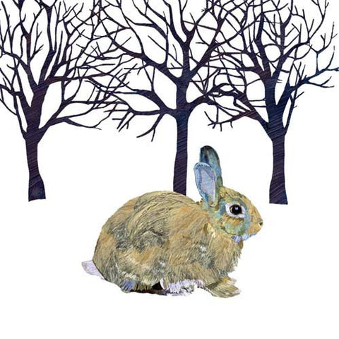 Napkin Winter Rabbit | 33x33cm  | Bloomsbury Store