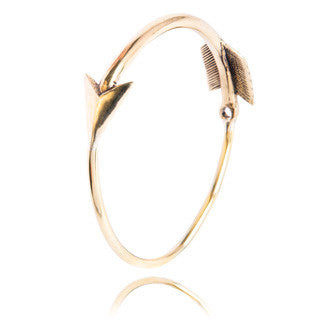 Silver Service | Chunky Brass Arrow Bangle  | Bloomsbury Store
