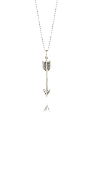 Silver Service | Tiny Silver Arrow Necklace -  Bloomsbury Store