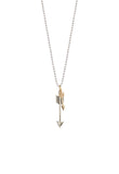 Silver Service | Small Silver Arrow With Tiny Brass Arrow Necklace -  Bloomsbury Store - 2