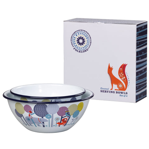 Folklore Enamel Set of Two Serving Bowls | Wild & Wolf  | Bloomsbury Store - 1