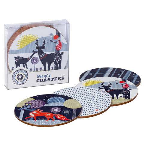 Folklore Coasters Set of 4 | Wild & Wolf  | Bloomsbury Store - 1