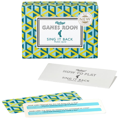 Sing It Back Quiz | Ridley's Game Room  | Bloomsbury Store - 1
