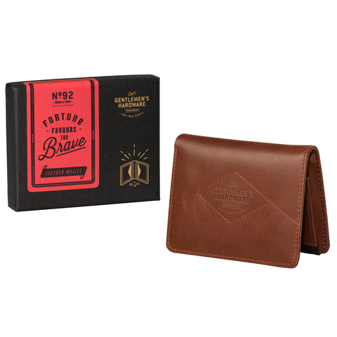 Gentlemen's Hardware Tan Leather Wallet with Black Canvas | Wild & Wolf  | Bloomsbury Store - 1