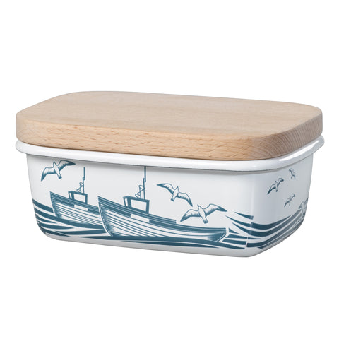 Whitby Enamel Butter Dish | Mini Moderns  | Bloomsbury Store - 1