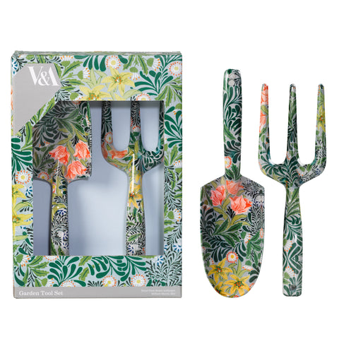 V&A William Morris Fork and Trowel Set | Wild & Wolf  | Bloomsbury Store - 1