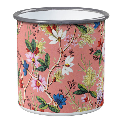 V&A Kilburn Coral Small Enamel Pot | Wild & Wolf  | Bloomsbury Store