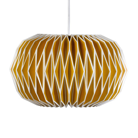 Alena English Mustard Paper Lampshade | Wild & Wolf -  Bloomsbury Store - 1