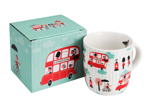 Little Red Bus Boxed Mug  | Bloomsbury Store