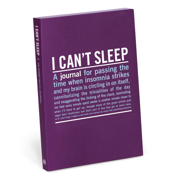 I Can't Sleep Inner Truth Mini Journal | Knock Knock -  Bloomsbury Store - 1