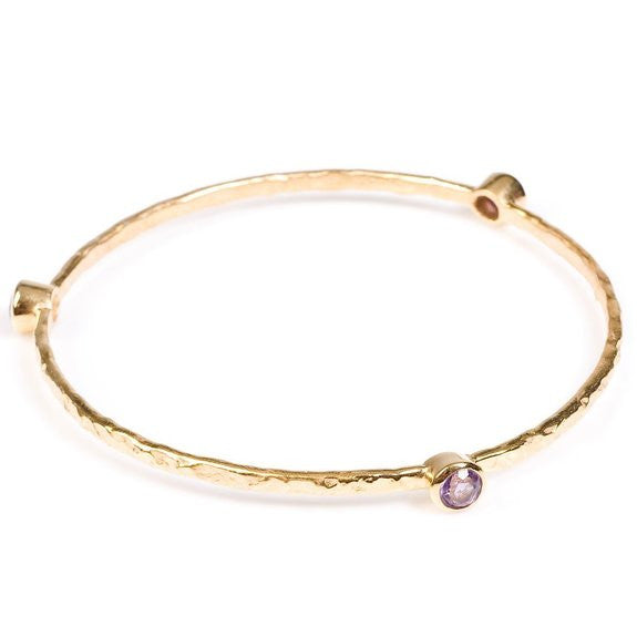 Single Set Stone Gold plated | Amethyst -  Bloomsbury Store