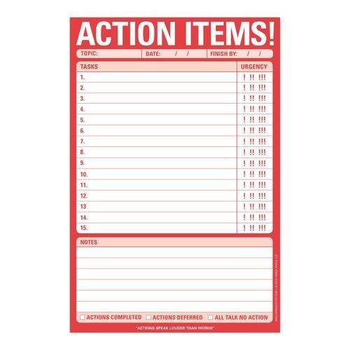 Action Items! Pad | Knock Knock  | Bloomsbury Store - 1